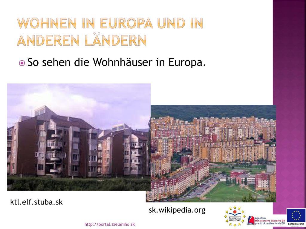 Wohnen in europa und in anderen ländern