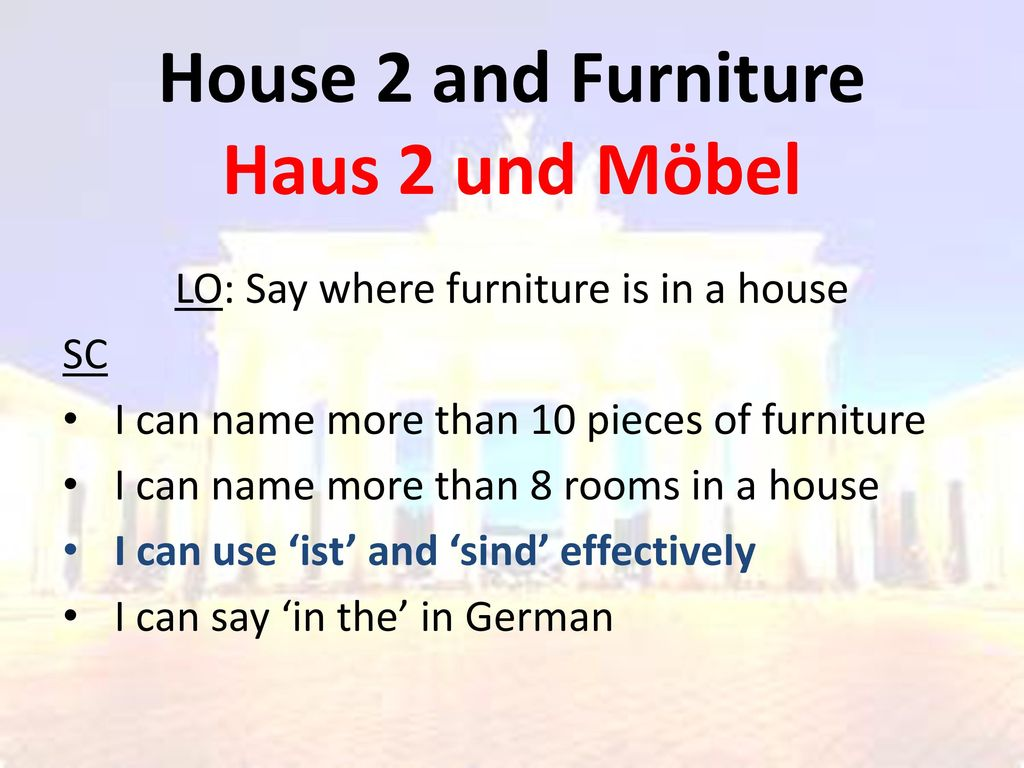 House 2 and Furniture Haus 2 und Möbel