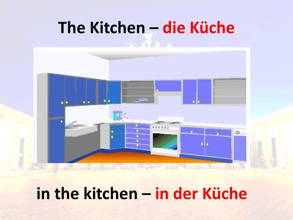 in the kitchen – in der Küche