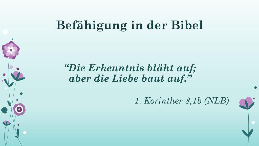 Befähigung in der Bibel