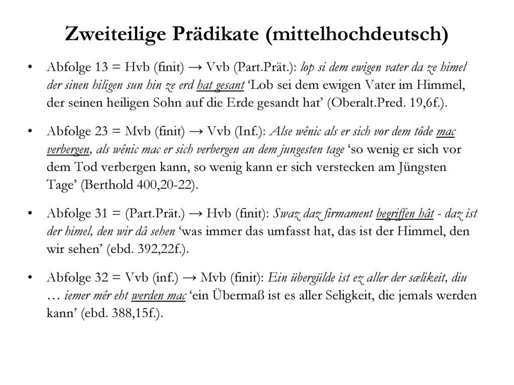 Zweiteilige Prädikate (mittelhochdeutsch)