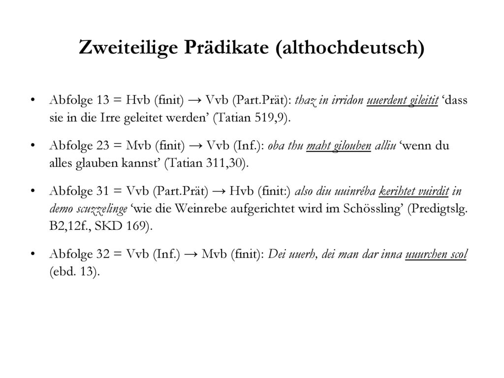 Zweiteilige Prädikate (althochdeutsch)