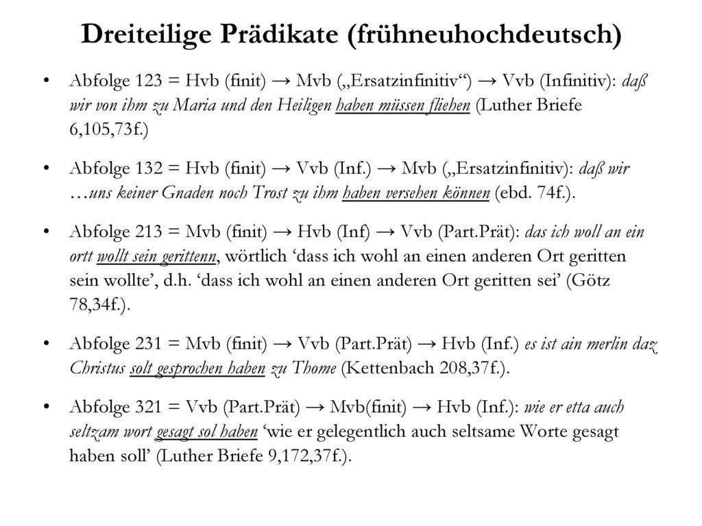 Dreiteilige Prädikate (frühneuhochdeutsch)