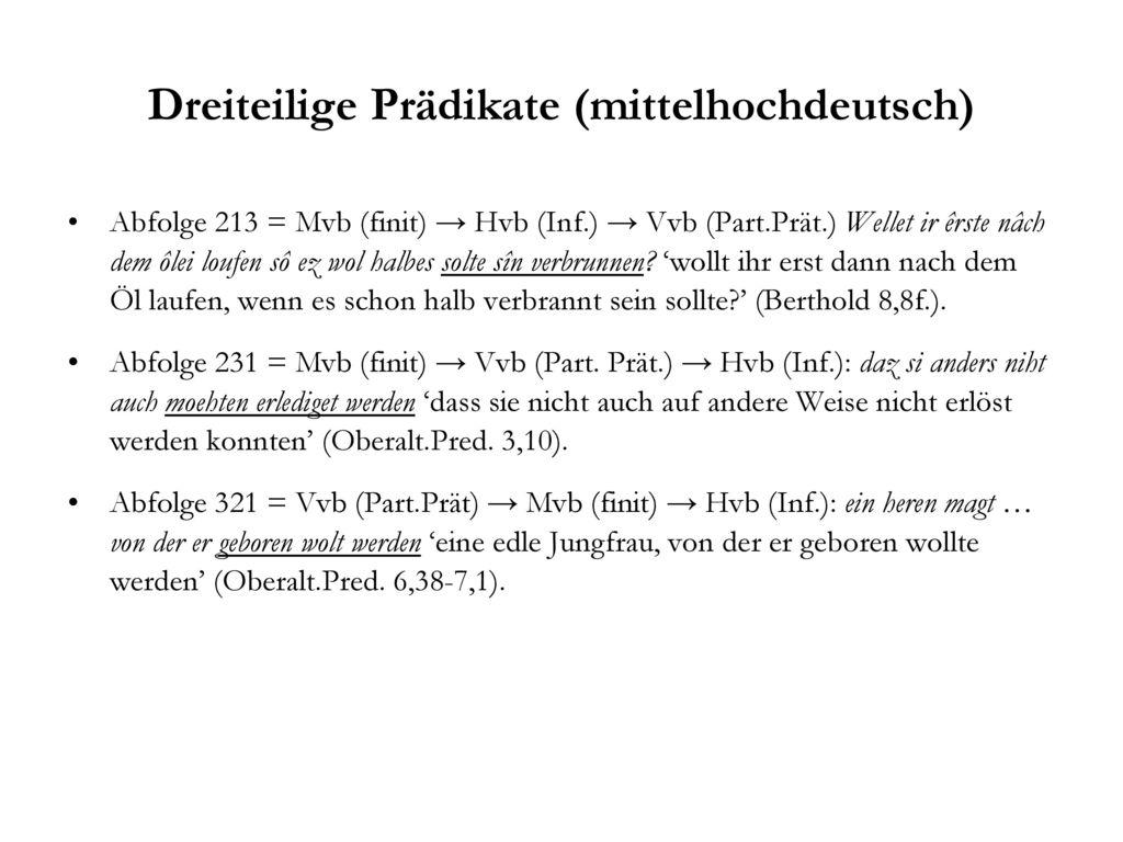 Dreiteilige Prädikate (mittelhochdeutsch)