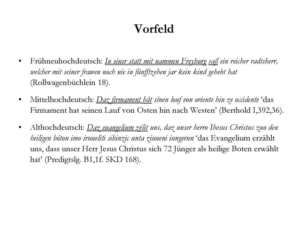 Vorfeld
