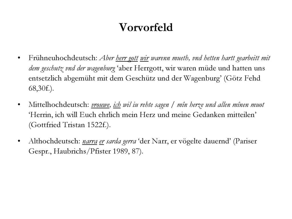 Vorvorfeld