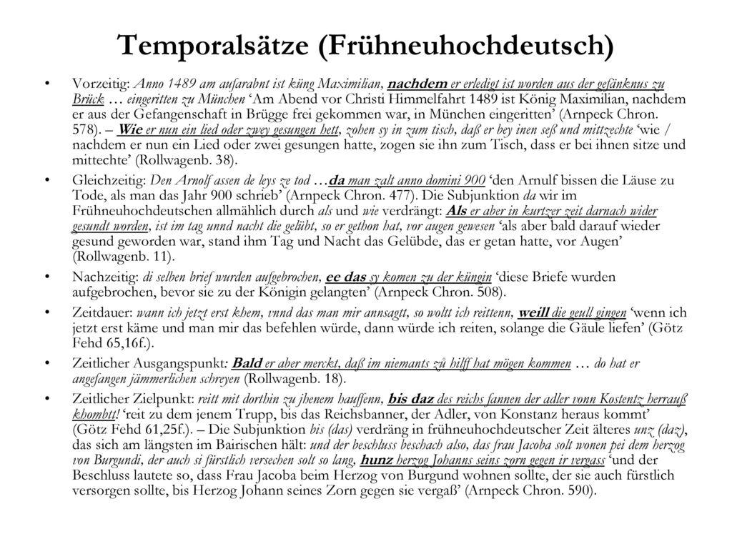 Temporalsätze (Frühneuhochdeutsch)