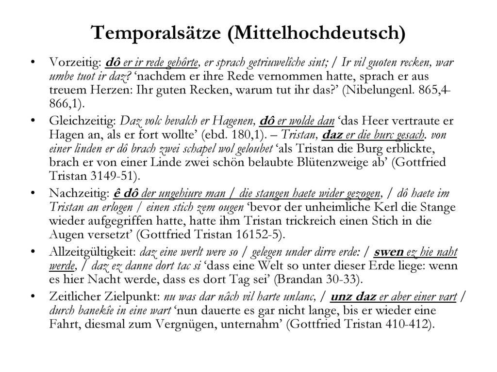 Temporalsätze (Mittelhochdeutsch)