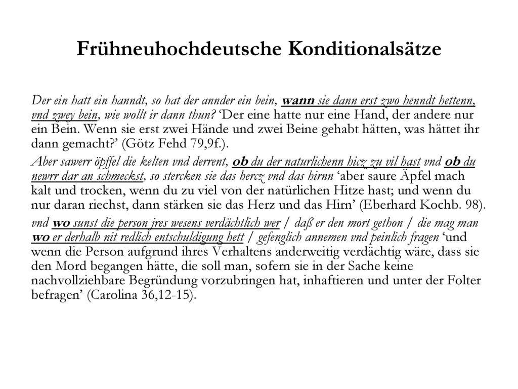 Frühneuhochdeutsche Konditionalsätze