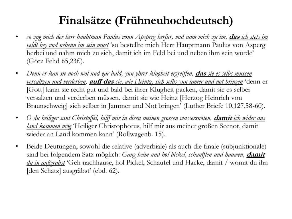 Finalsätze (Frühneuhochdeutsch)