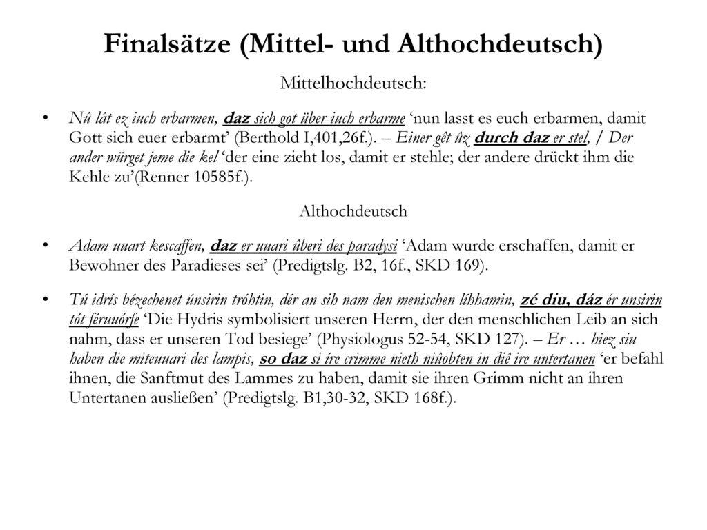 Finalsätze (Mittel- und Althochdeutsch)