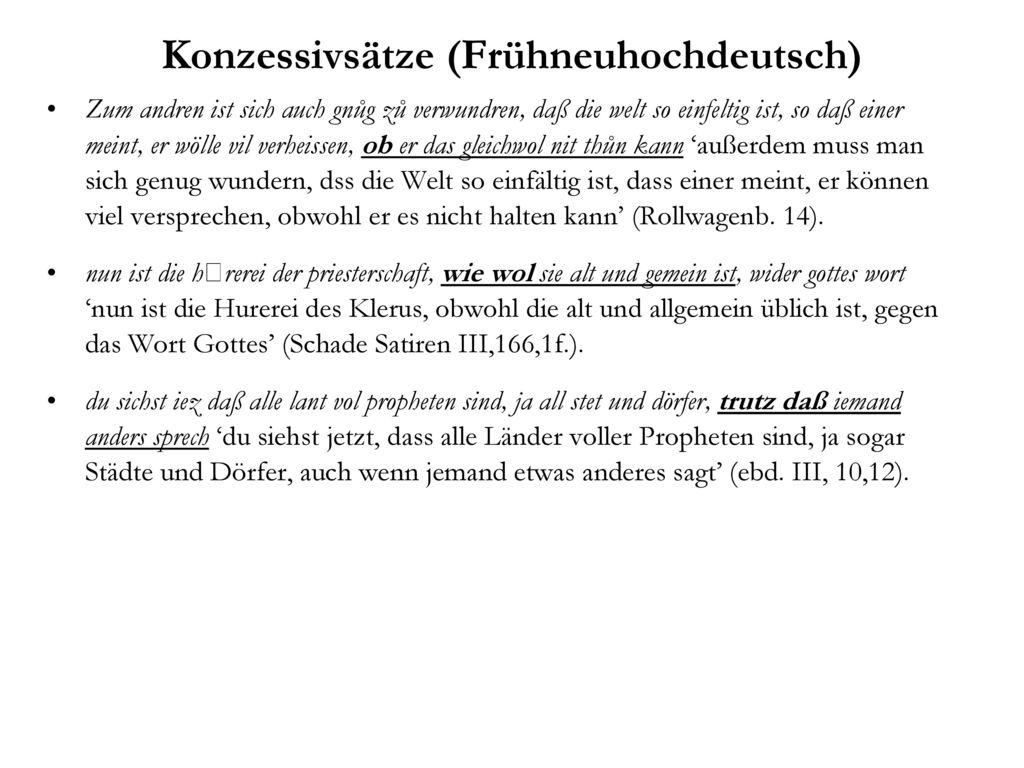 Konzessivsätze (Frühneuhochdeutsch)