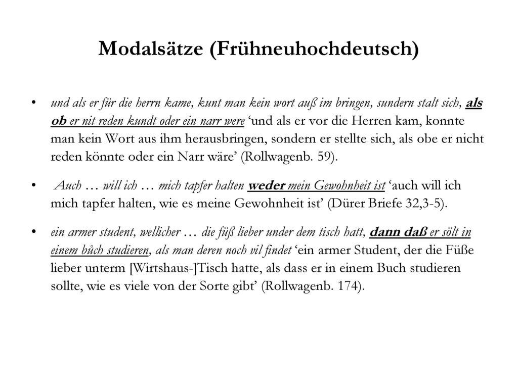 Modalsätze (Frühneuhochdeutsch)