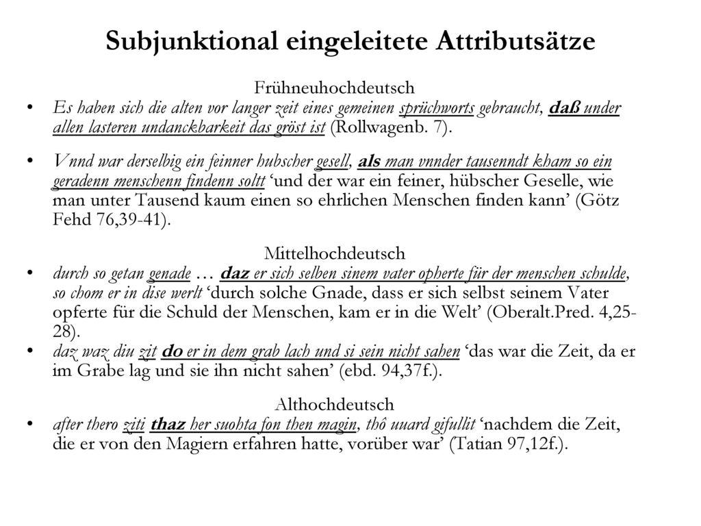 Subjunktional eingeleitete Attributsätze