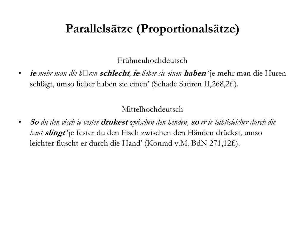 Parallelsätze (Proportionalsätze)