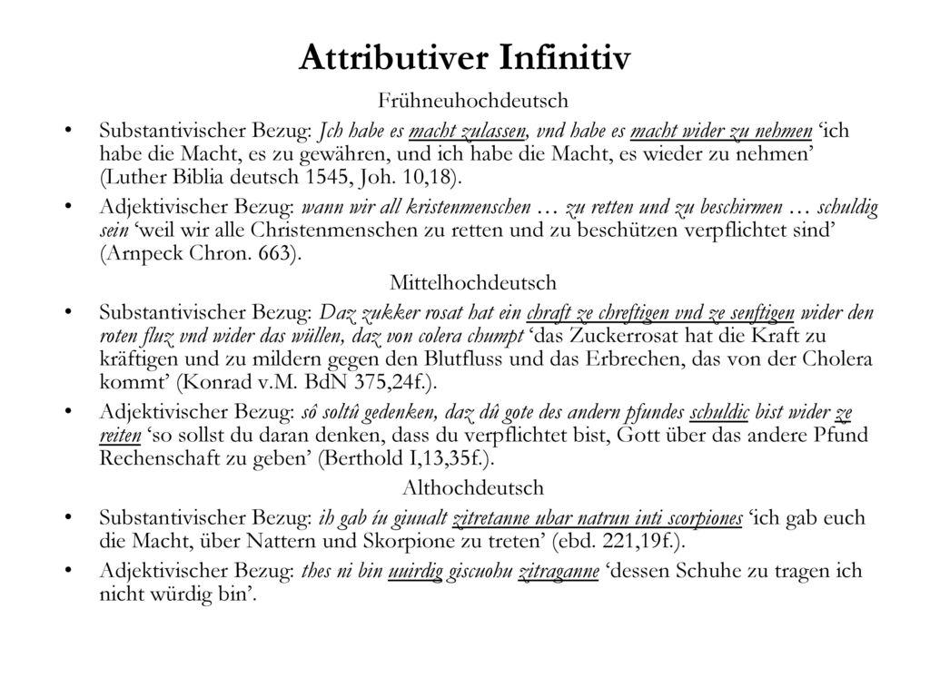 Attributiver Infinitiv