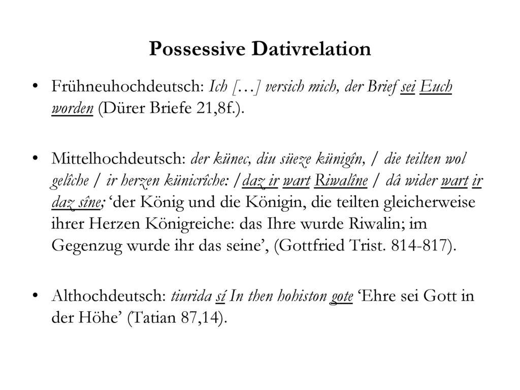 Possessive Dativrelation