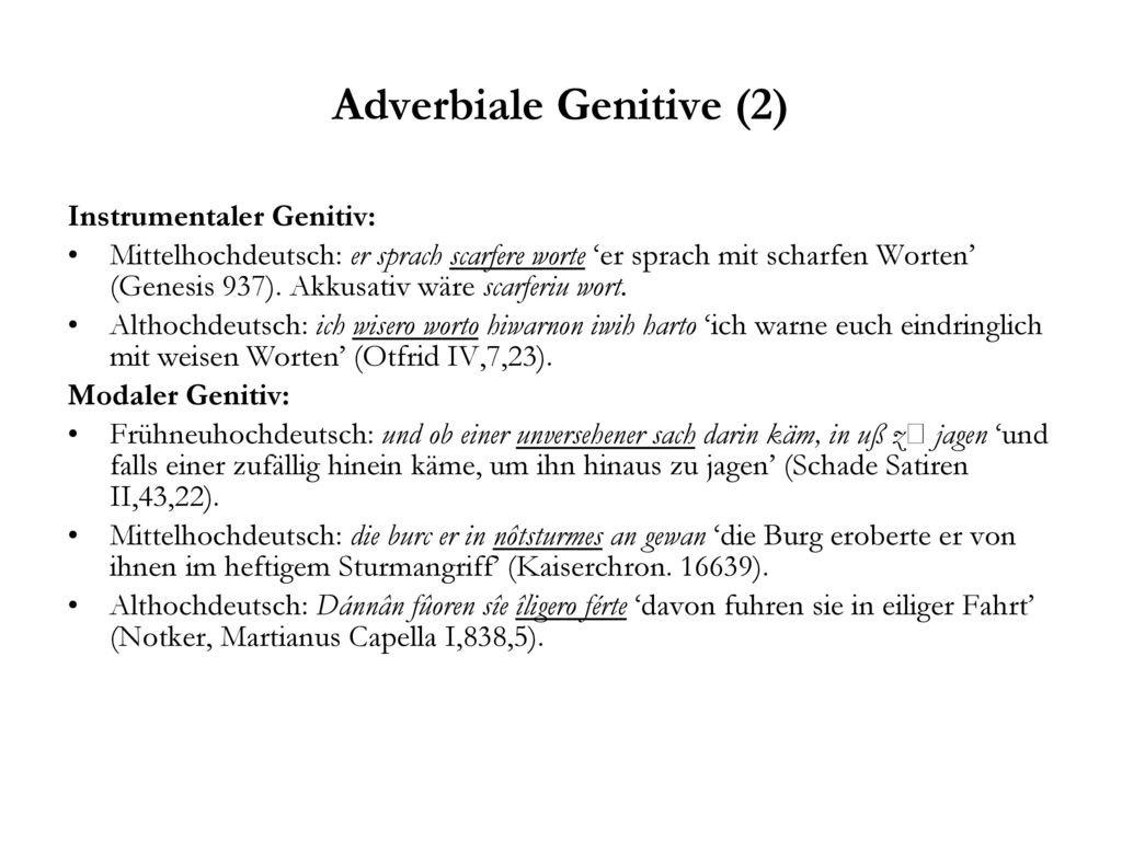 Adverbiale Genitive (2)