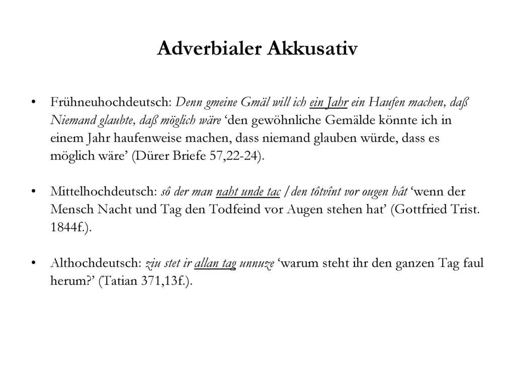 Adverbialer Akkusativ