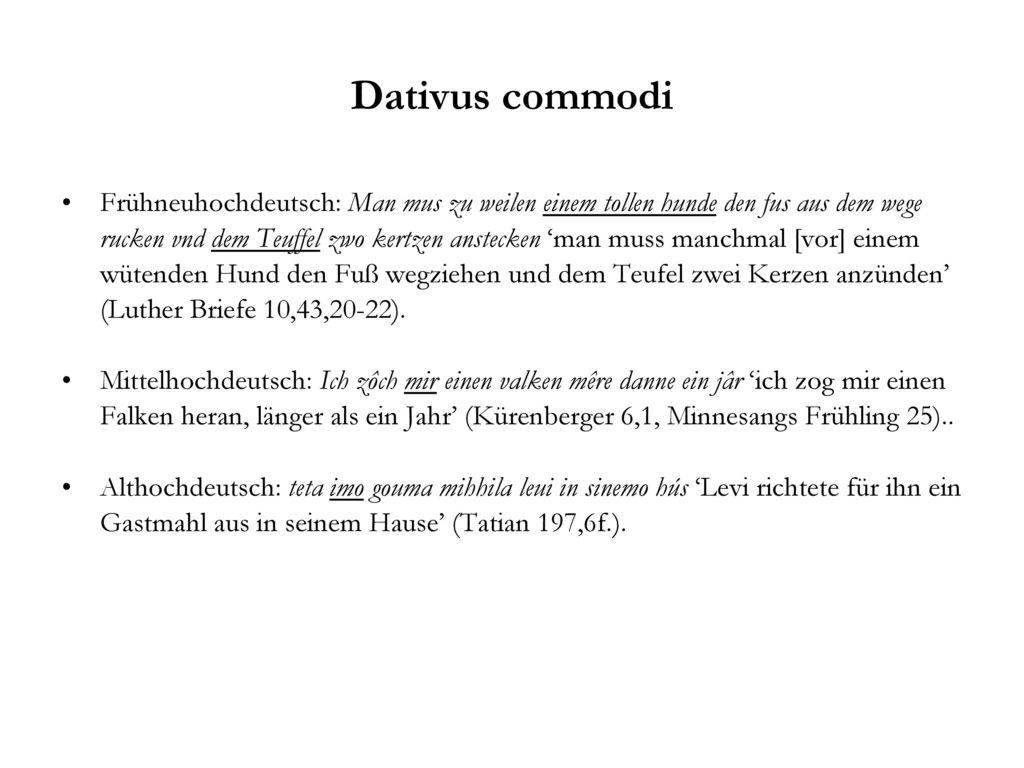 Dativus commodi