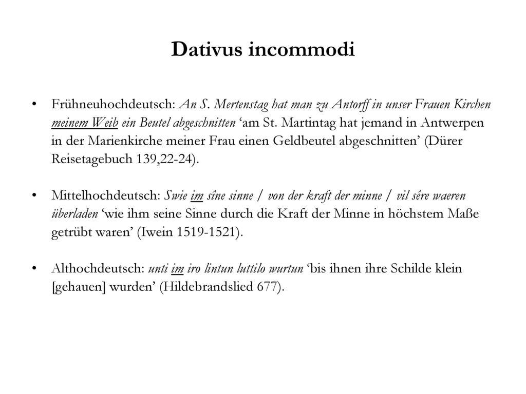 Dativus incommodi