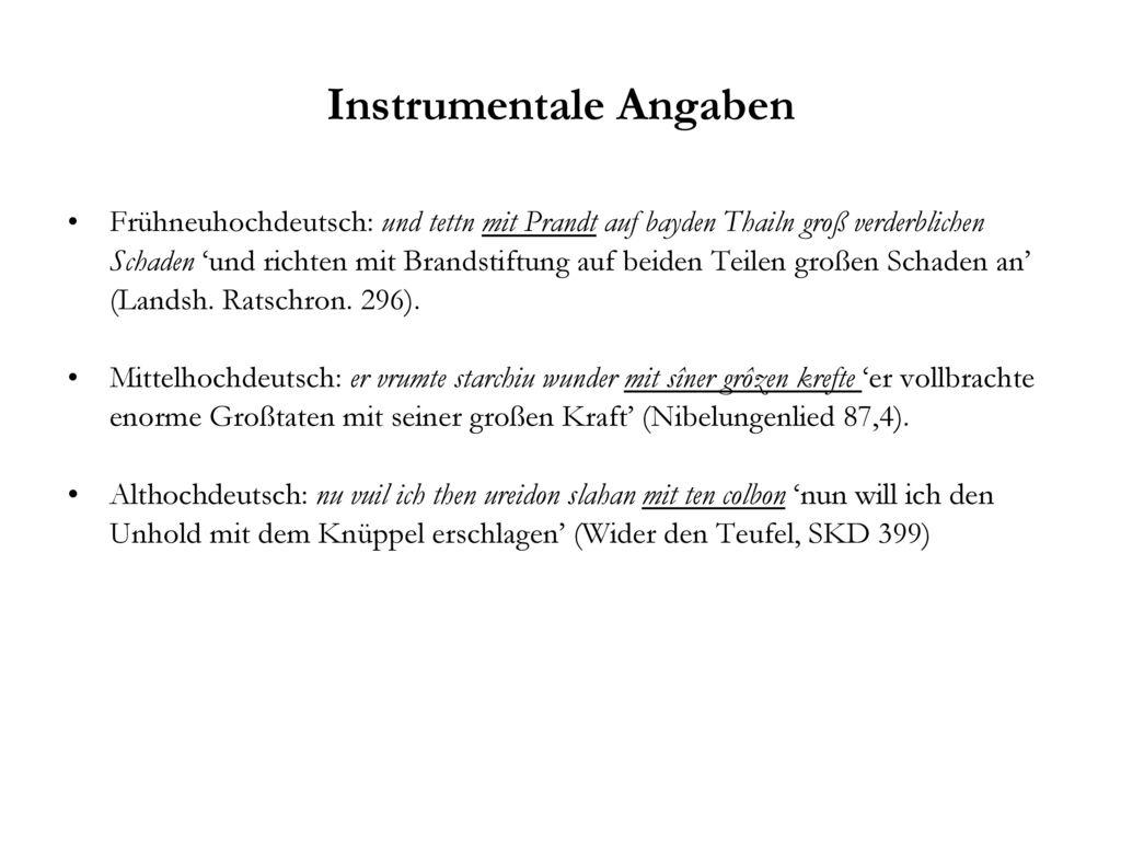Instrumentale Angaben