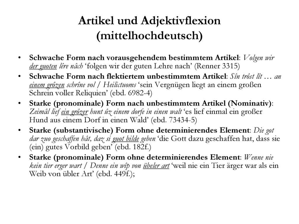 Artikel und Adjektivflexion (mittelhochdeutsch)