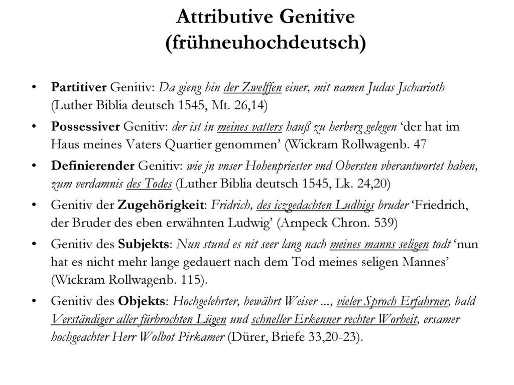 Attributive Genitive (frühneuhochdeutsch)