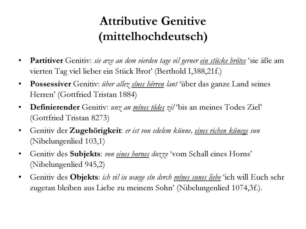 Attributive Genitive (mittelhochdeutsch)