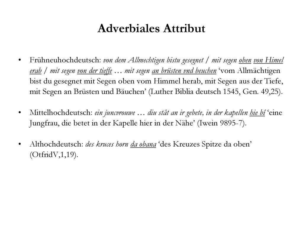 Adverbiales Attribut