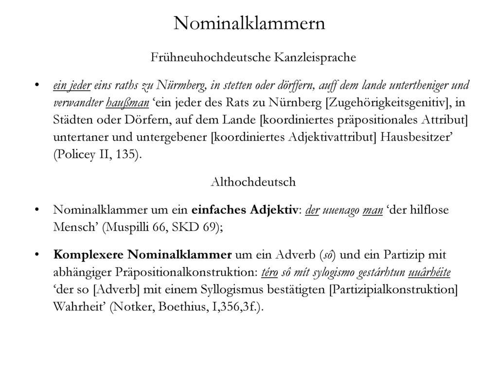 Frühneuhochdeutsche Kanzleisprache