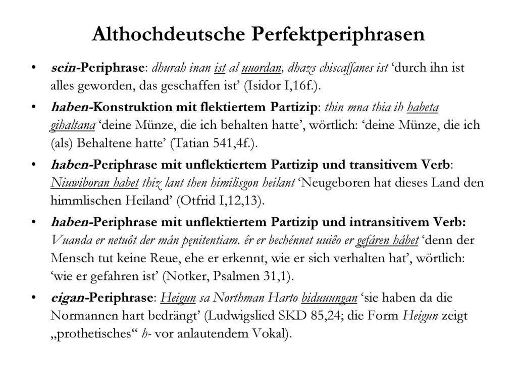 Althochdeutsche Perfektperiphrasen