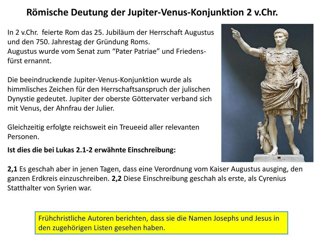 Römische Deutung der Jupiter-Venus-Konjunktion 2 v.Chr.