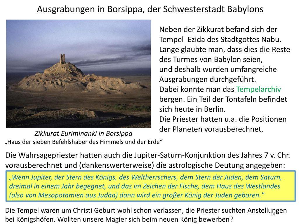 Ausgrabungen in Borsippa, der Schwesterstadt Babylons