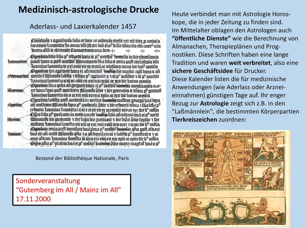 Medizinisch-astrologische Drucke