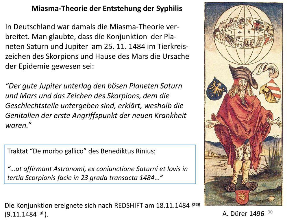 Miasma-Theorie der Entstehung der Syphilis