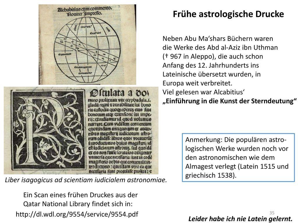 Frühe astrologische Drucke