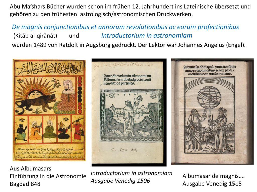 Abu Ma'shars Bücher wurden schon im frühen 12