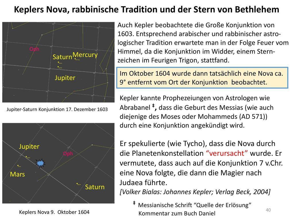 Keplers Nova, rabbinische Tradition und der Stern von Bethlehem