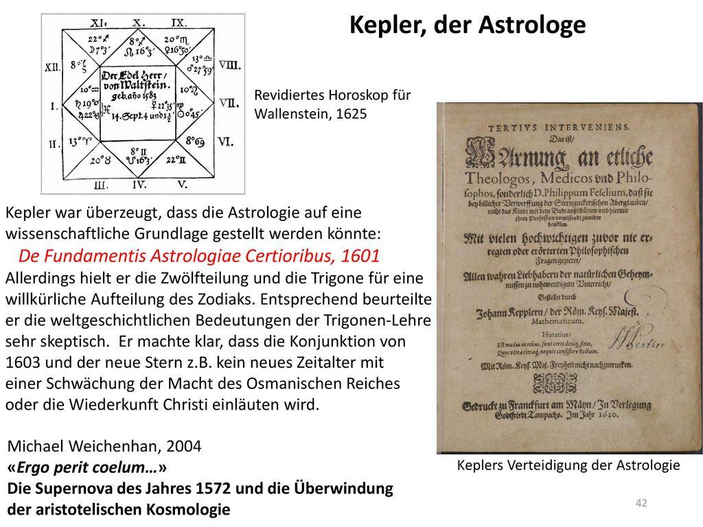 Kepler, der Astrologe De Fundamentis Astrologiae Certioribus, 1601