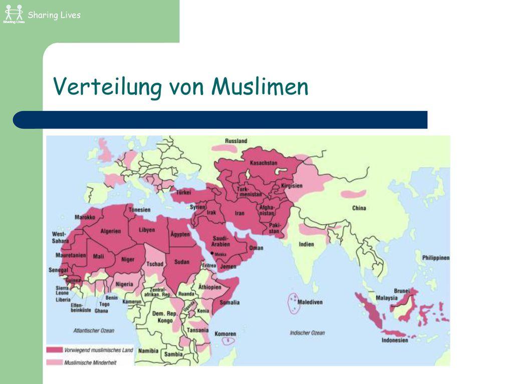 Verteilung von Muslimen