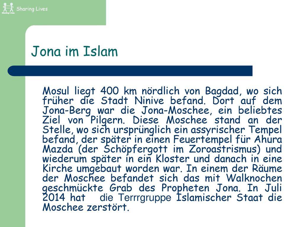 Sharing Lives Jona im Islam.