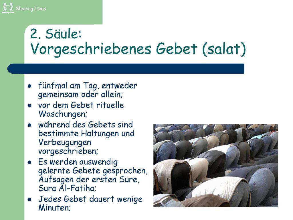 2. Säule: Vorgeschriebenes Gebet (salat)