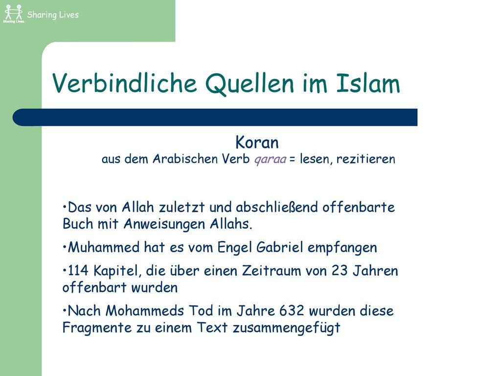 Verbindliche Quellen im Islam