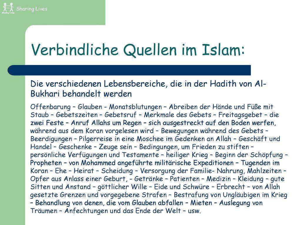 Verbindliche Quellen im Islam:
