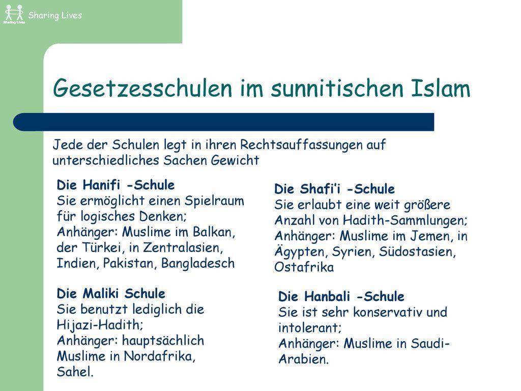 Gesetzesschulen im sunnitischen Islam