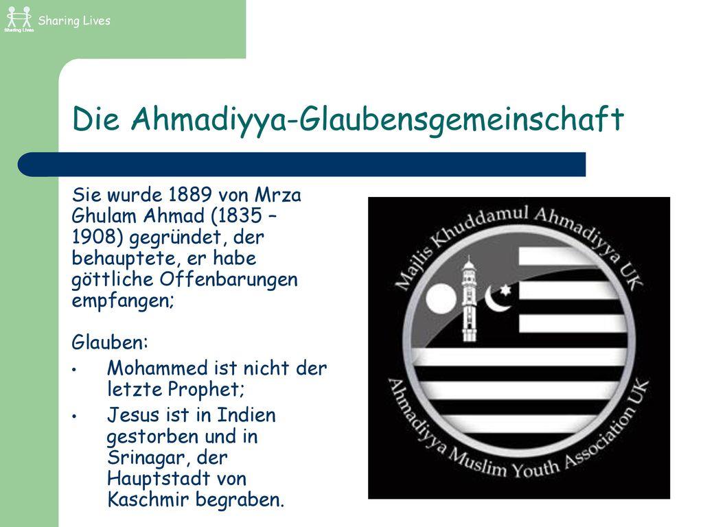 Die Ahmadiyya-Glaubensgemeinschaft
