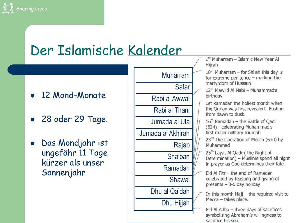 Der Islamische Kalender