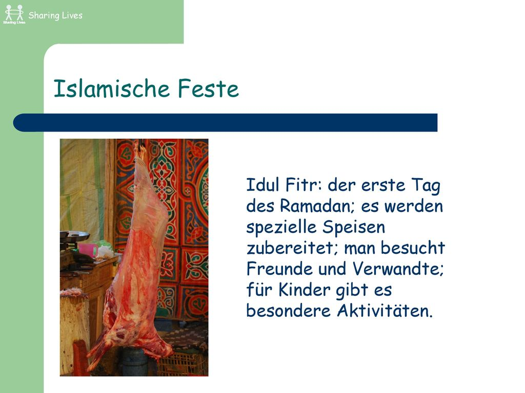 Sharing Lives Islamische Feste.