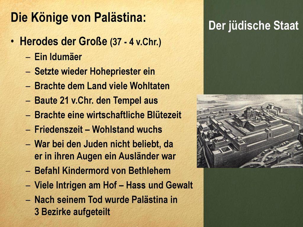 Die Könige von Palästina: